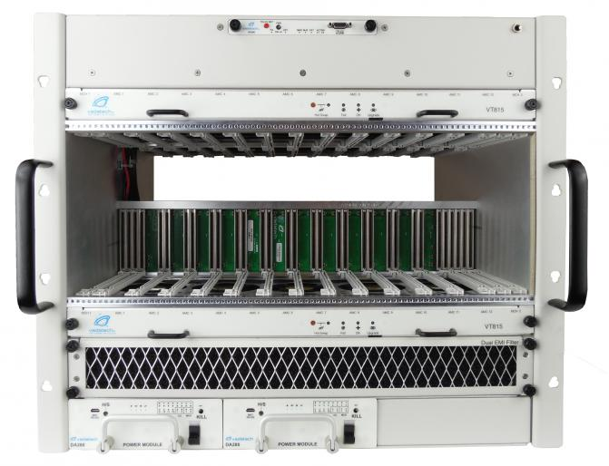 VT815 - 9U MTCA.0/MTCA.4 Chassis with 12 Full-size AMC Slots