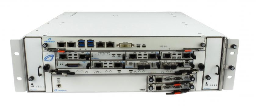 VT835 - 3U ATCA Hybrid Chassis with 8 AMCs AMCs (Mid-size)
