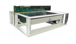 VTX991 - One Slot 6U VPX Benchtop Development Chassis with RTM (P4 to P6 with six VITA 66.4/66.5)